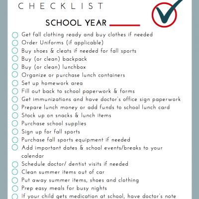 Free Printable Back-to-School Checklist