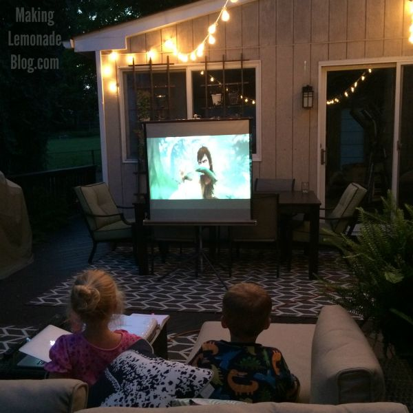 Movies on the deck