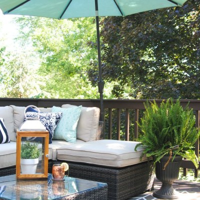 Our Outdoor Living Room & DIY Deck Makeover Reveal!