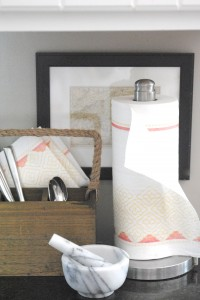 These designer paper towels add style to your kitchen!