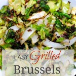 Who knew brussels sprouts could be this delicious? This easy grilled brussels sprouts recipe makes a perfect side dish!