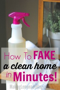 Company coming? Quick, here's how to speed clean your home in minutes!