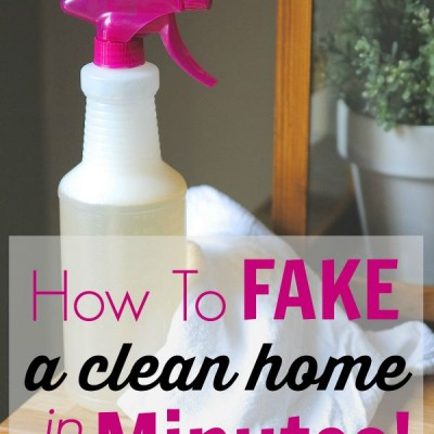 How to Fake a Clean Home in Minutes Flat! {Speed Cleaning 101}