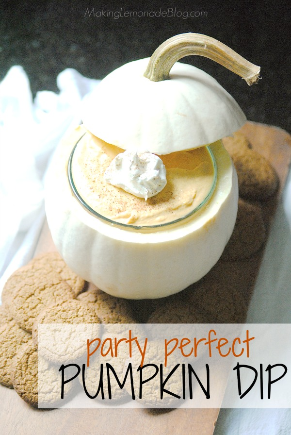This easy 3-ingredient pumpkin dip is a showstopping fall dessert that's perfect for parties!