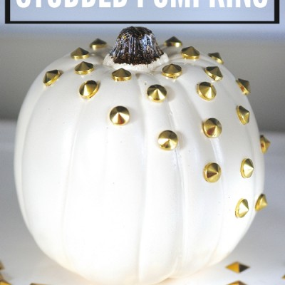 How to Make Studded Pumpkins (or, Punk Pumpkins)