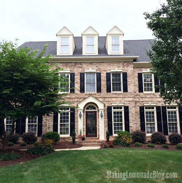 gorgeous light brick house exterior
