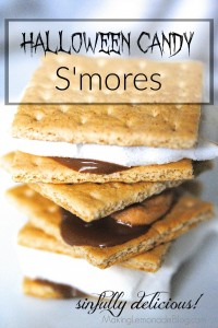 Leftover Halloween Candy S'Mores