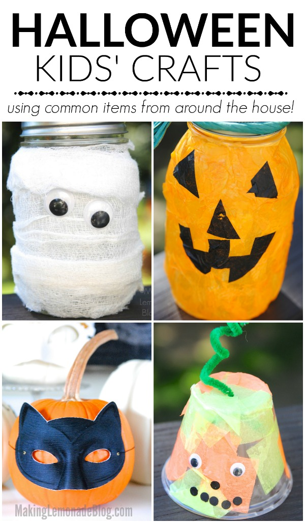 Quick halloween craft ideas for kids making lemonade for Halloween decorations crafts to make