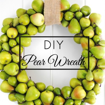 DIY Pear Wreath {Fall & Holiday Wreath Combined FOR THE WIN!)