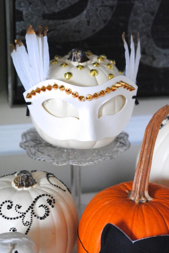 White masked pumpkins
