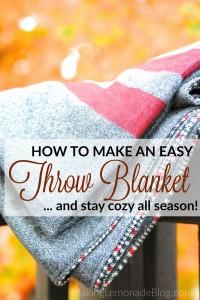 DIY Throw Blanket Tutorial (stay warm all season!)