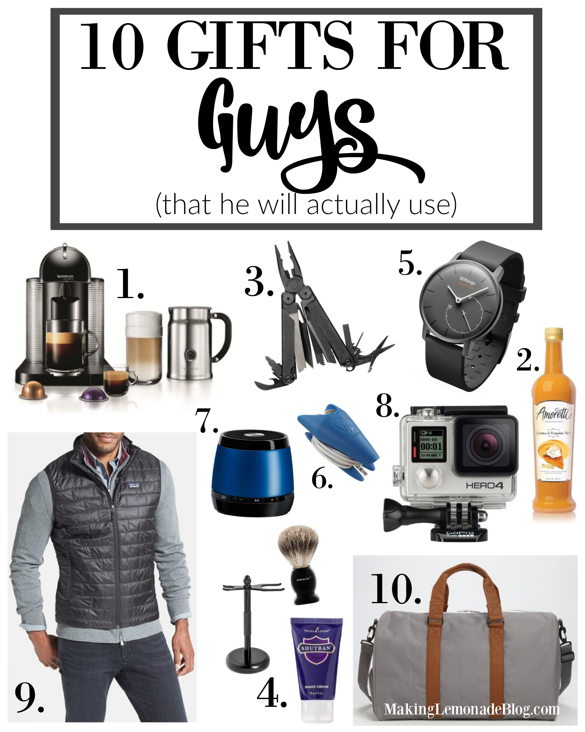 10 best gifts for guys that he ll actually use making