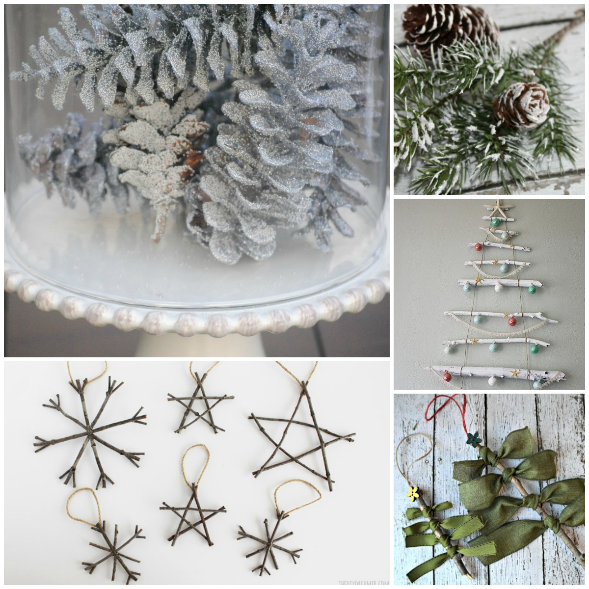 Natural Christmas Decor Ideas (aka Free Christmas Decorations!)