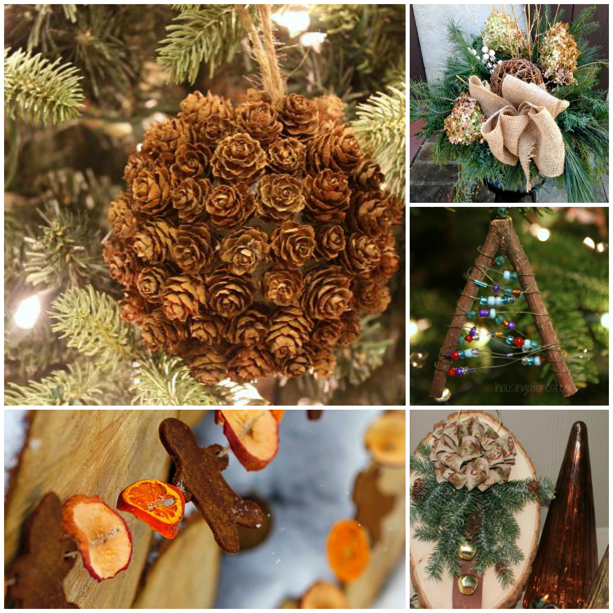 Natural christmas decor ideas aka free christmas for Christmas decoration items