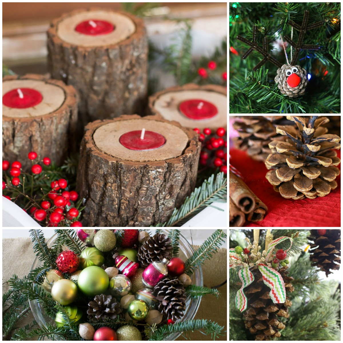 wait free christmas decorations yes please love these ideas for free natural - Christmas Decorating On A Dime