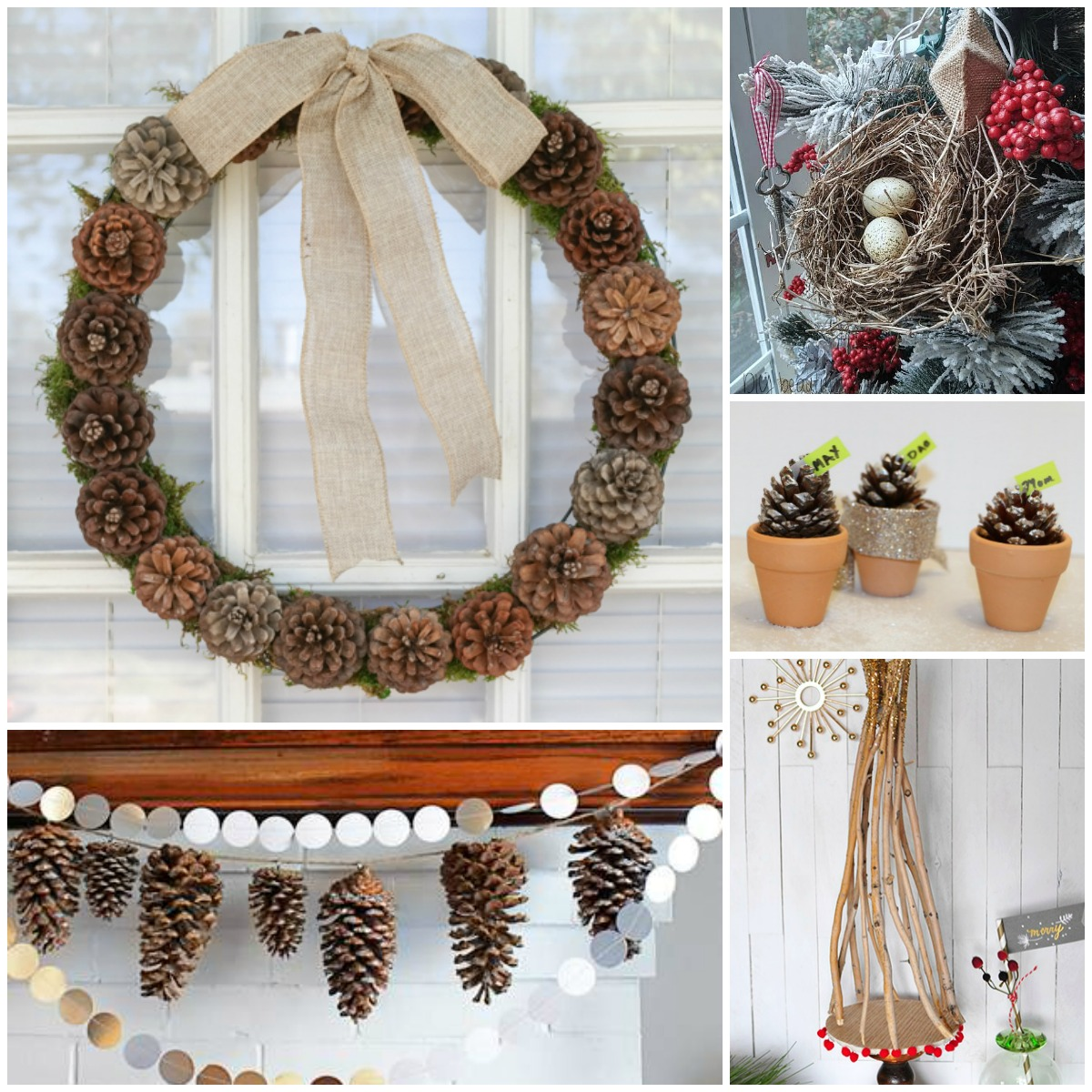 Natural Christmas Decor Ideas (aka Free Christmas