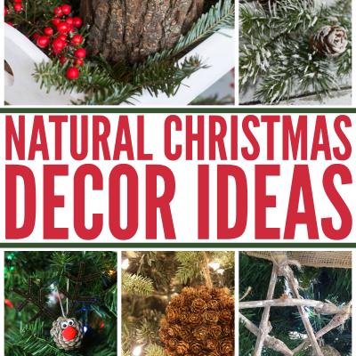 Natural Christmas Decor Ideas (aka Free Christmas Decorations!)
