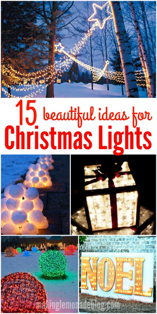 These gorgeous DIY outdoor Christmas lighting ideas are sure to bring joy over the holidays! The first idea is my favorite!