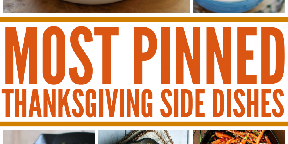 Check out the 25 MOST PINNED side dish recipes, perfect for Thanksgiving and Christmas!