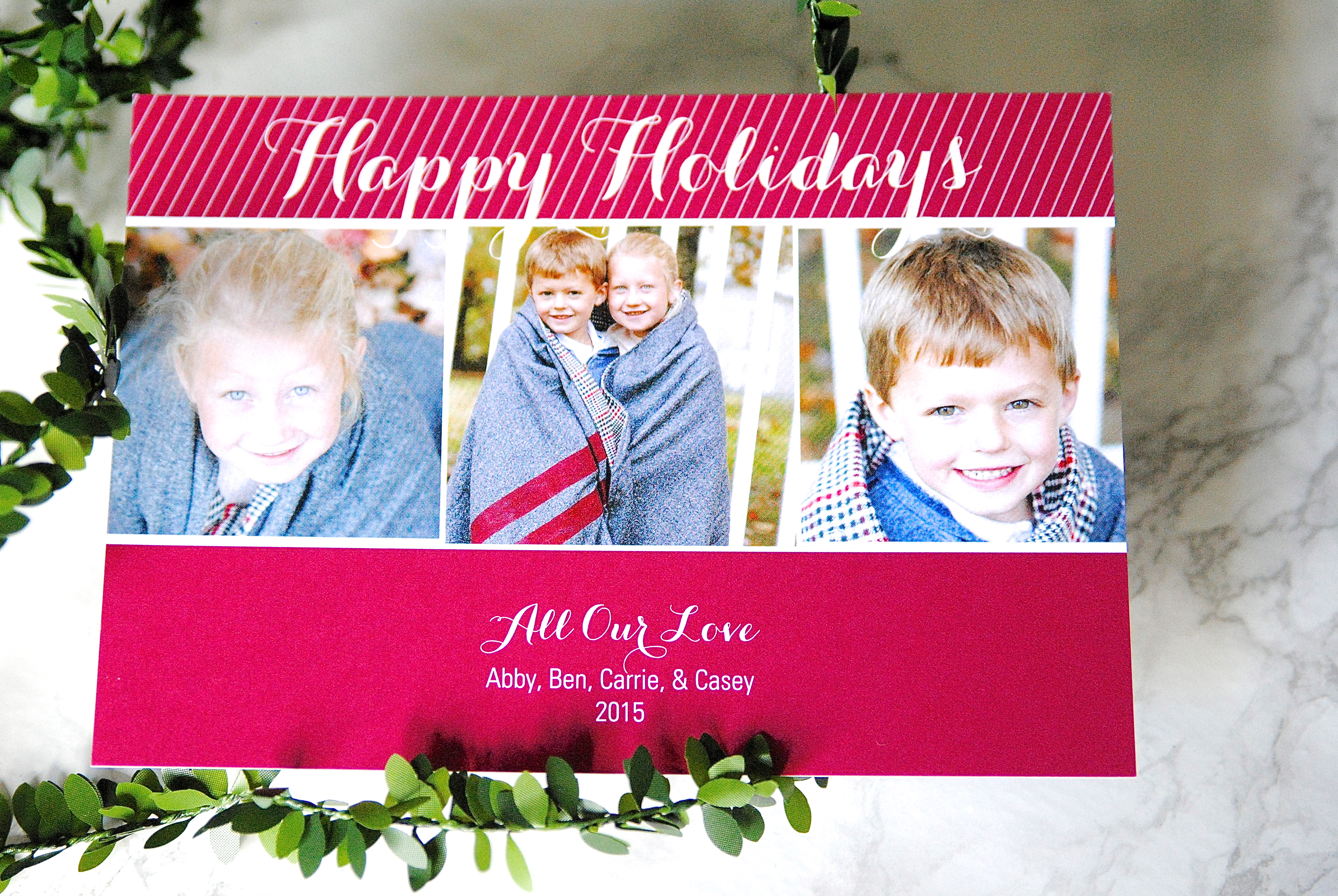 That time my husband did the christmas cards love these modern photo christmas cards m4hsunfo