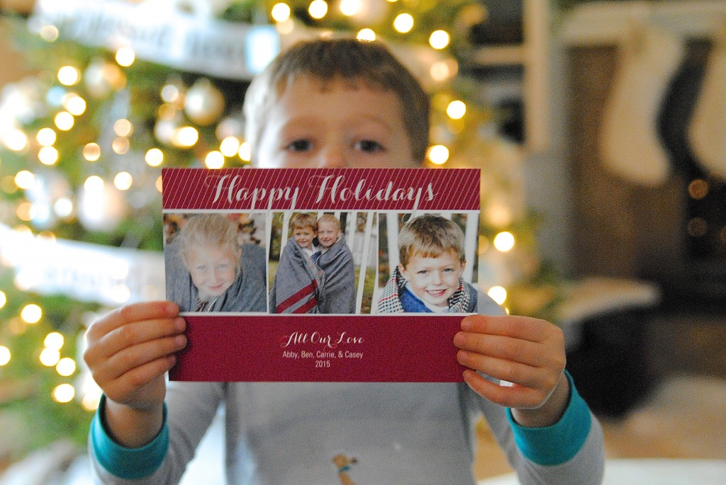 love these modern photo Christmas cards!