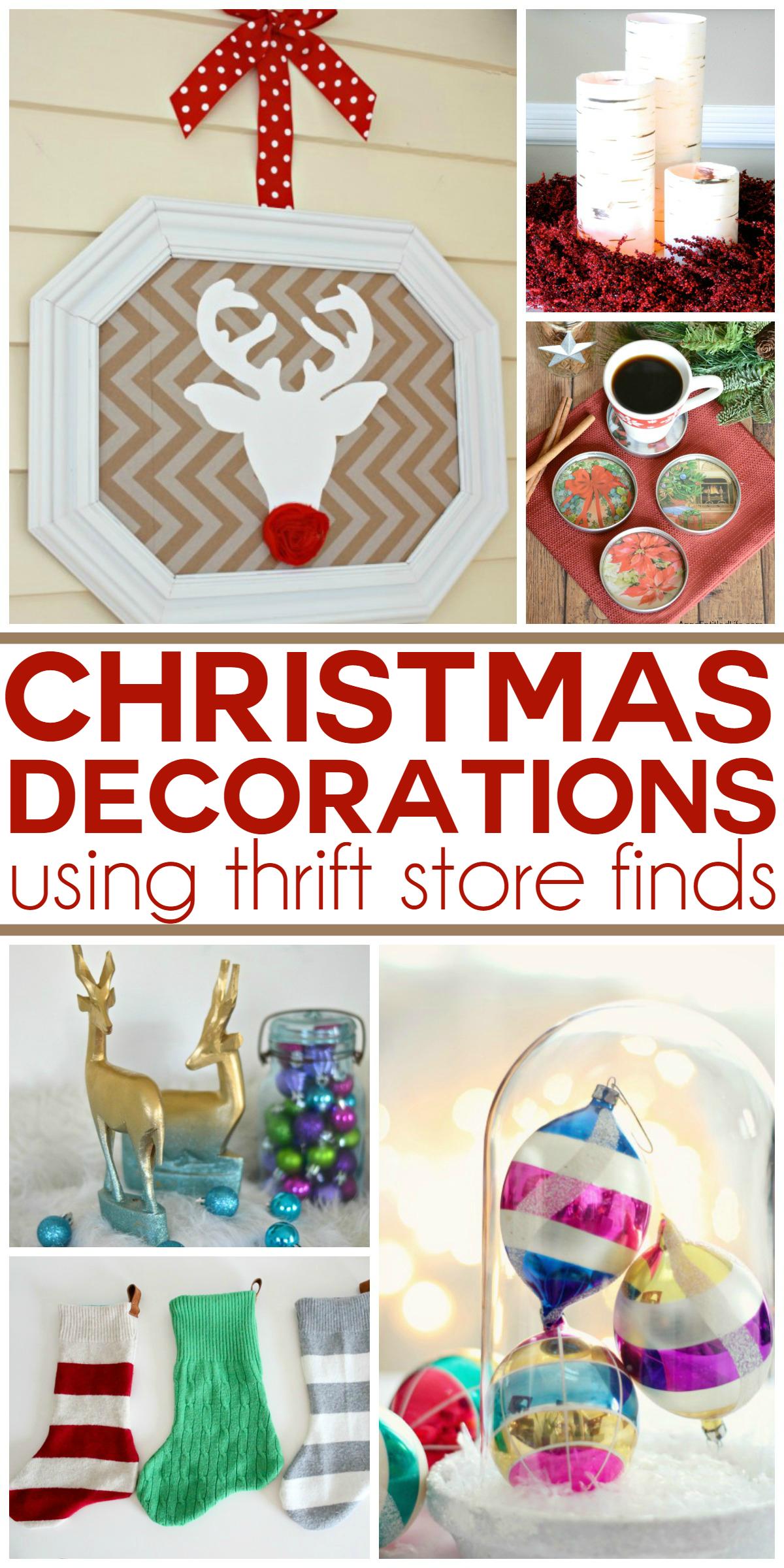 25 Thrift Store Christmas Decor Ideas | Making Lemonade