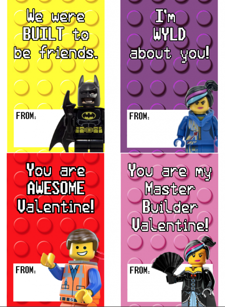 graphic relating to Printable Valentine Picture named Totally free Printable LEGO Valentines ( + Sensible Methods towards Employ the service of Them