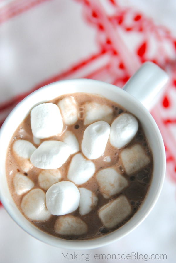 I had no idea you could make hot chocolate in a crockpot! This recipe sounds delicious and looks so easy! {Best Ever Slowcooker Hot Chocolate}