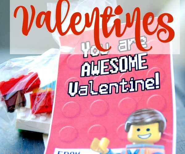 These DIY LEGO Valentine ideas (with FREE printable LEGO Valentine's Day cards) are sure to be the hit of the classroom!