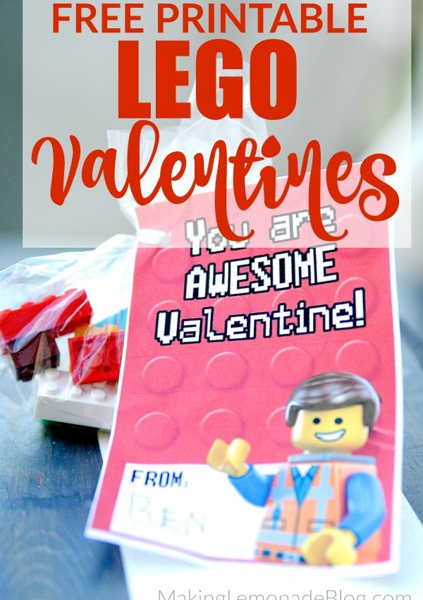 Free Printable LEGO Valentines ( + Clever Ways to Use Them!)