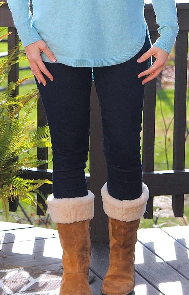 Cozy Ugg boots and comfy jeans