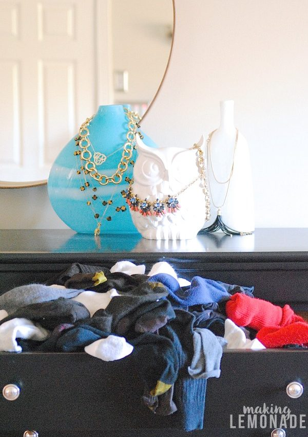 How to Fold and Organize Socks {KonMari Method}