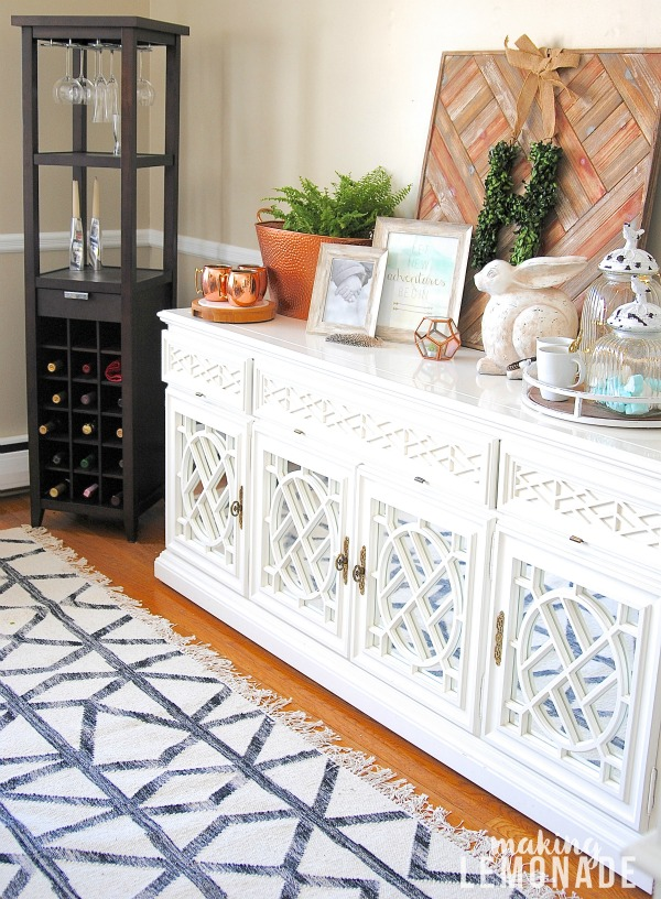 Clever storage ideas for organizing everyday items beautifully! Love the beverage station too!