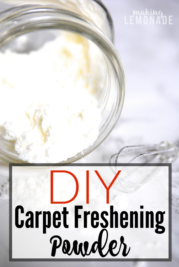 A must-have all natural spring cleaning recipe! DIY carpet freshening powder that only uses two ingredients!
