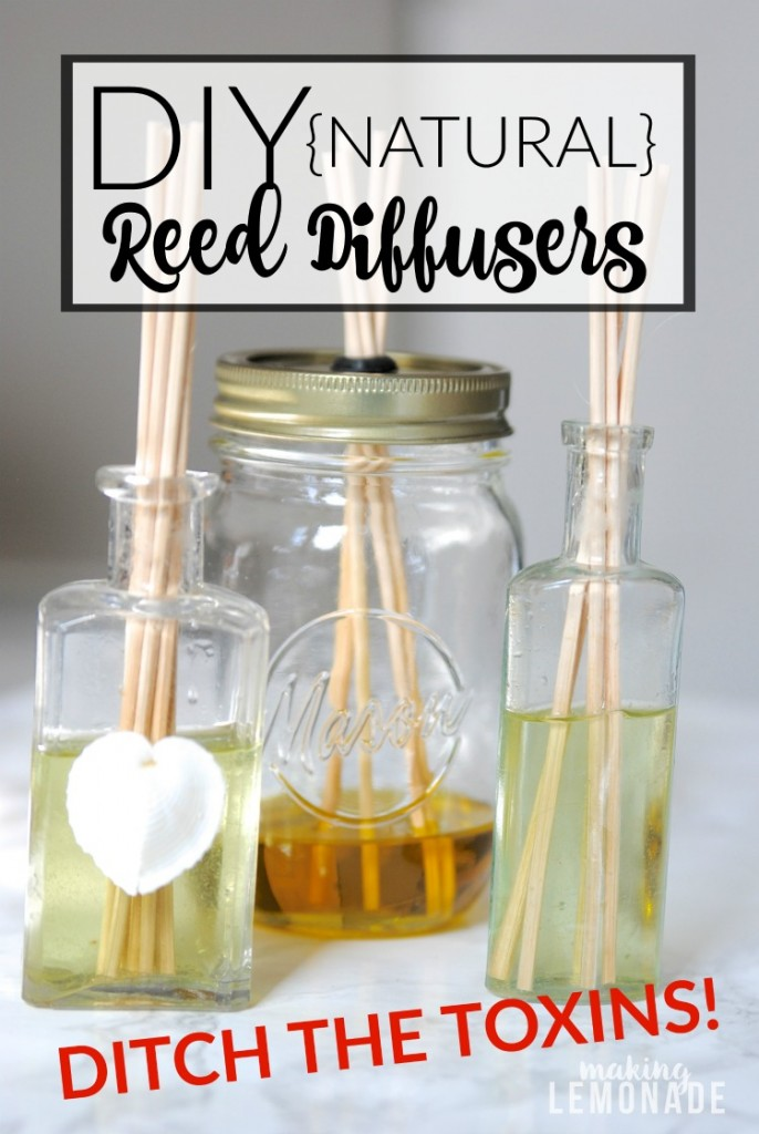 I had no idea you could DIY reed diffusers! These are SO easy to make and all-natural too-- just three ingredients!