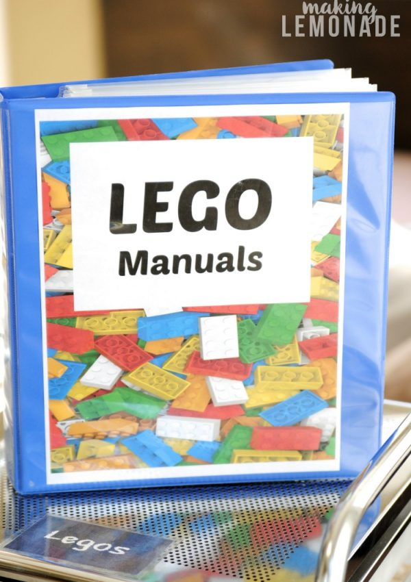 How To Organize LEGO Manuals (+ Free LEGO Printables!)