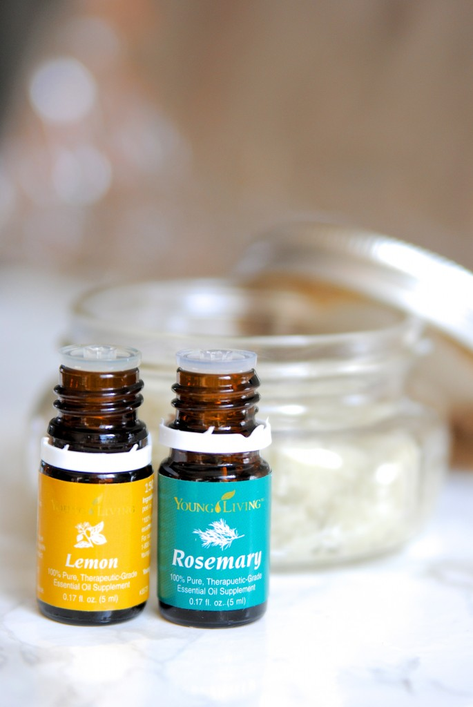 This looks SO relaxing, a DIY lemon rosemary oil body scrub with only 4 ingredients!