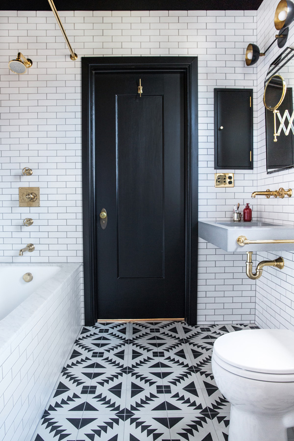 gorgeous design trends for 2016, this is one of my favorites! Patterned Tile in the Bathroom