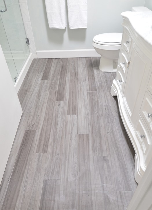 gorgeous design trends for 2016, this is one of my favorites! Woodgrain tile in the bathroom