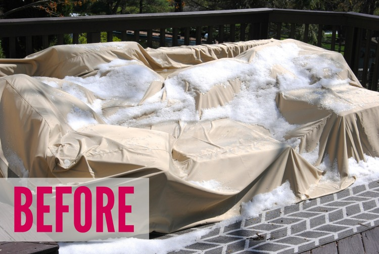 great outdoor living ideas and deck makeover! Wait until you see the before and after!