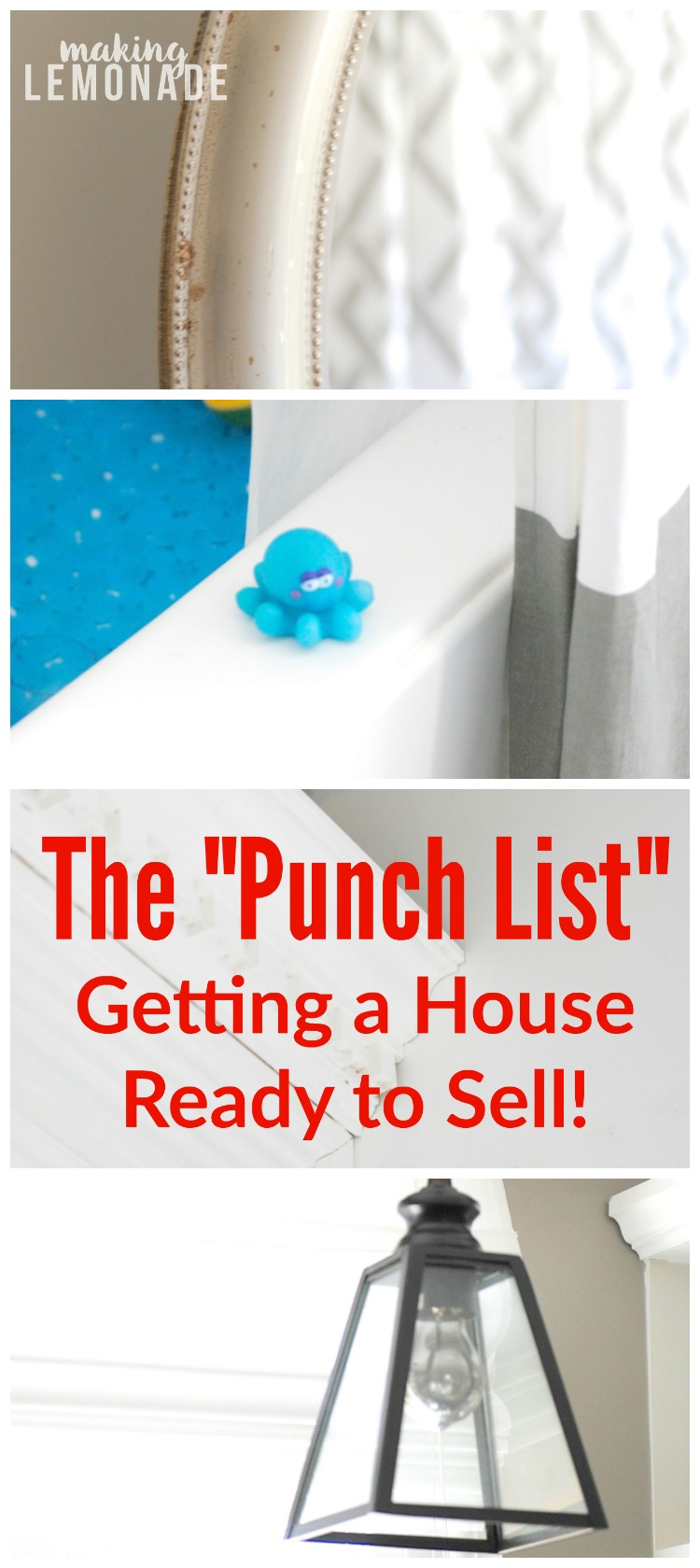 Getting the house ready to sell our punch list for House punch list