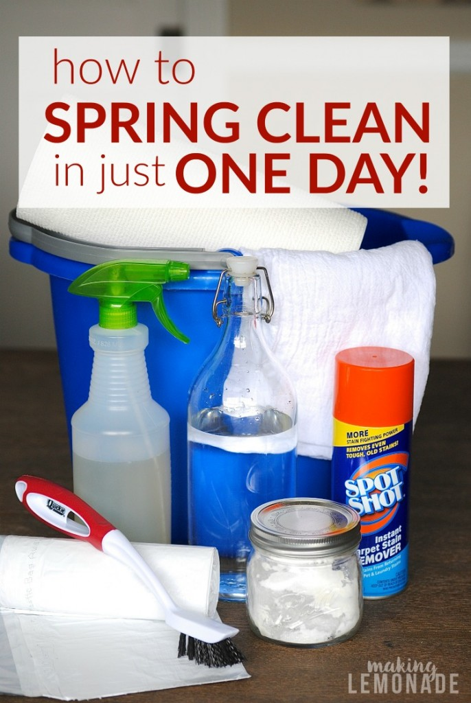 tips on how to spring clean in just ONE day from top to bottom!