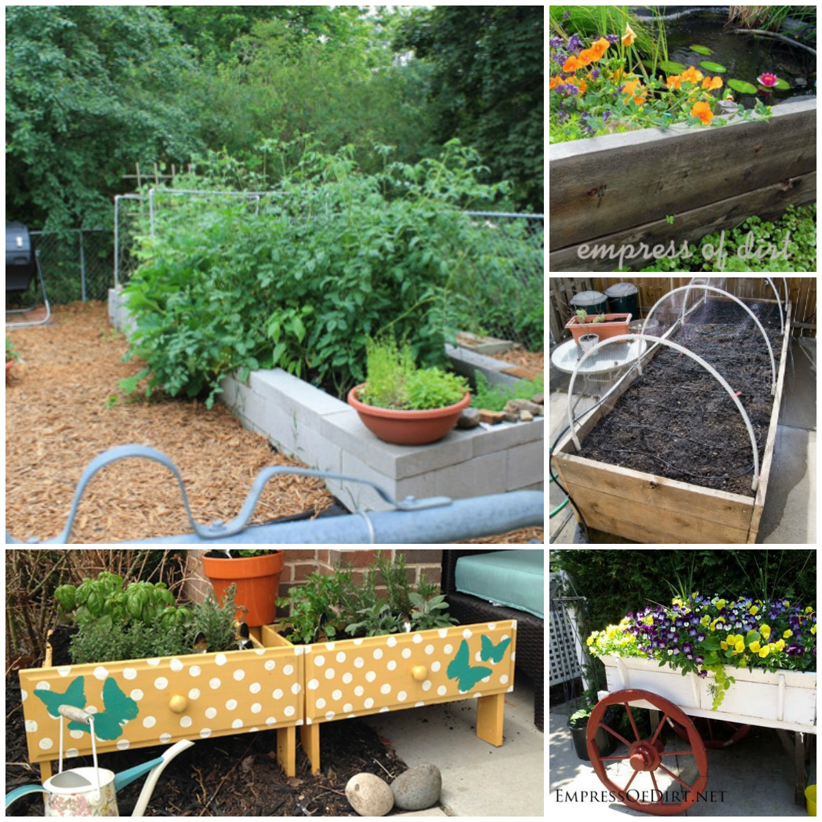 Easy raised garden bed ideas 18 easy to make diy raised for Raised bed garden designs
