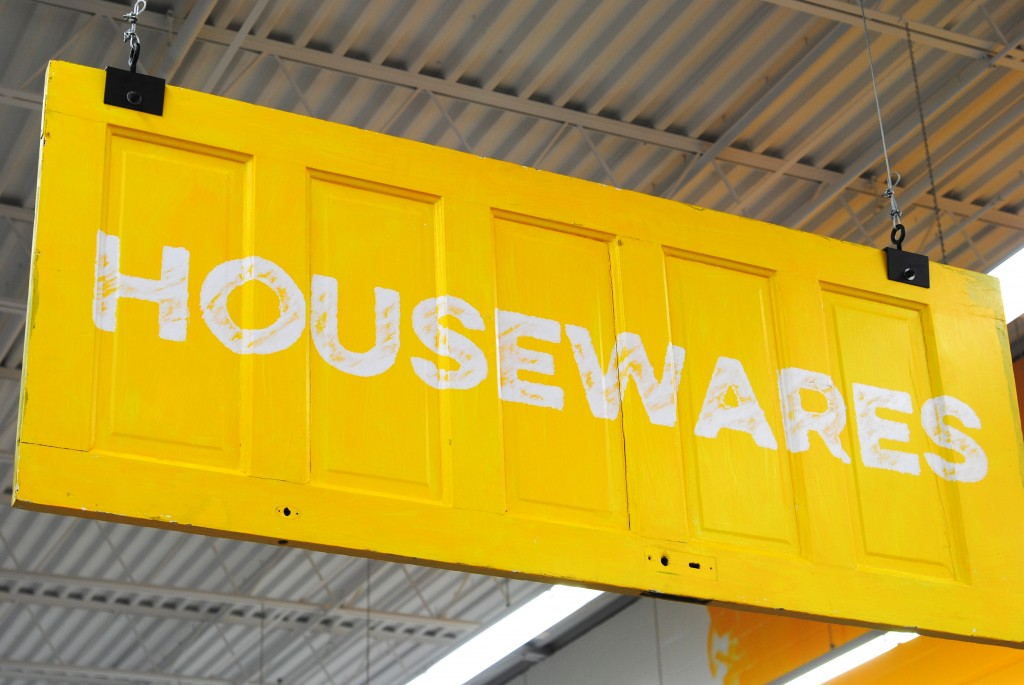 Housewares in the thrift store