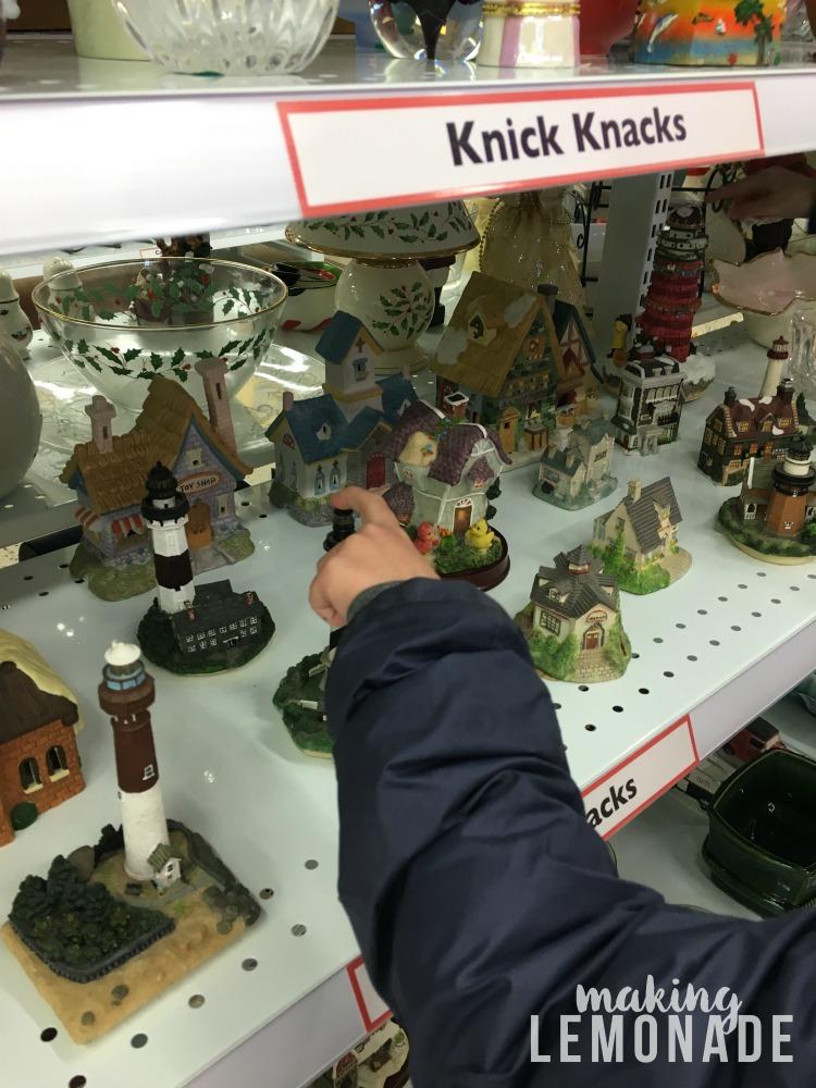 Thrift store knick knacks