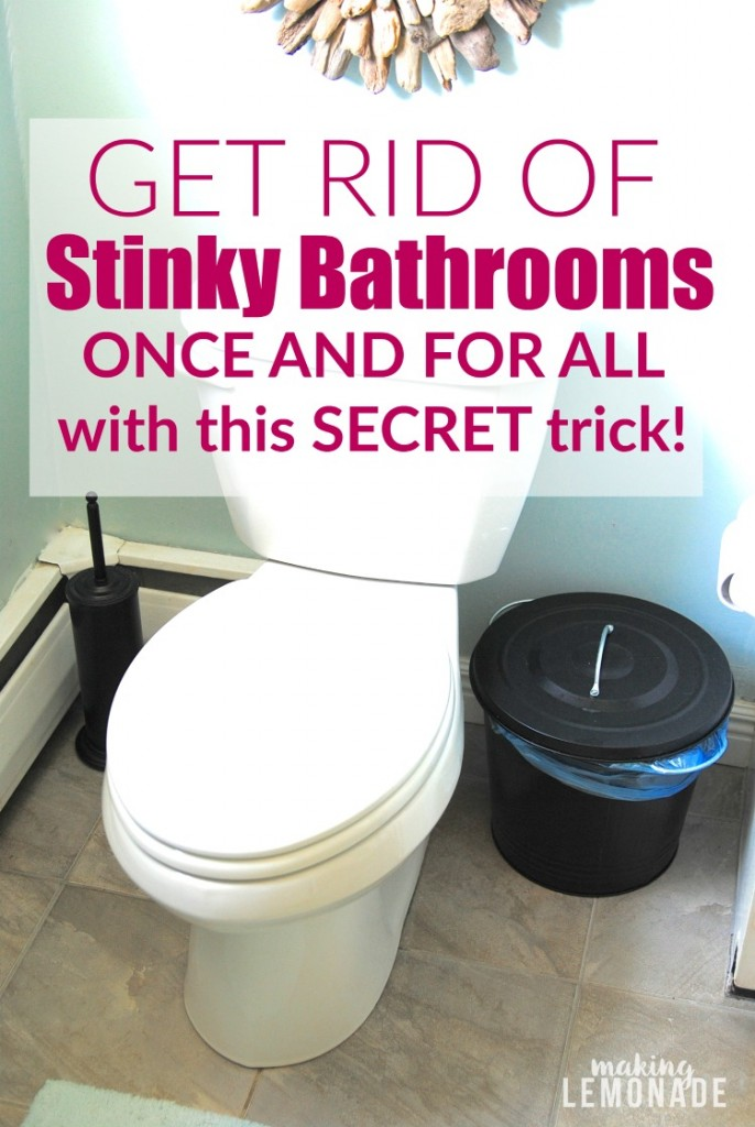 These tips for getting rid of stinky bathrooms once and for all are brilliant-- how did I not know the 'boy bathroom smell' trick?!