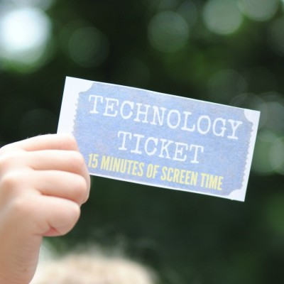 How We Reduced Screen Time with NO Tears or Tantrums! (Free Printable Technology Tickets)