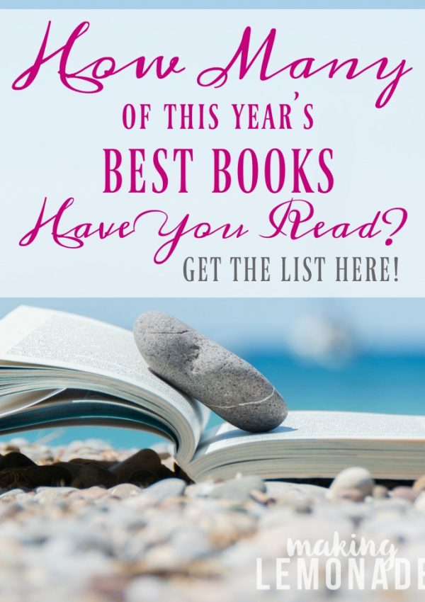 Here's the ultimate list of this year's must-read books!