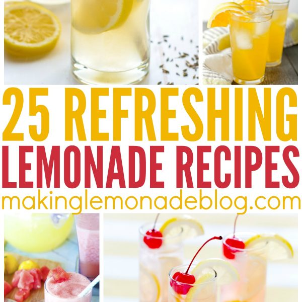 I want to make every single one of these delicious lemonade recipes! So many variations-- frozen lemonade, berry lemonade, boozy lemonade-- ALL THE LEMONADES!