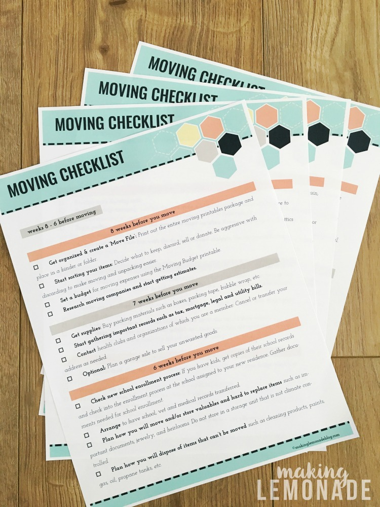 image regarding Stay Organized With a Printable Moving Checklist known as Final Assortment of Transferring Printables (Absolutely free Printable